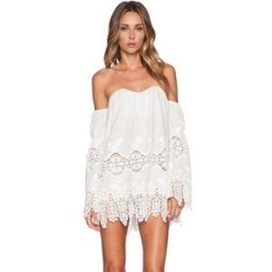 Stone Cold Fox Marrakech Lace Off Shoulder Dress S